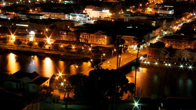 View from Lift Tower, Wanganui City Centre by Night